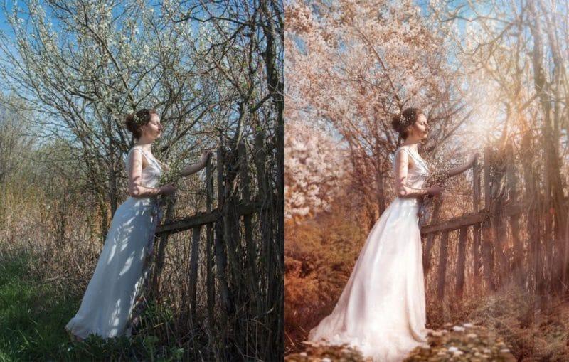 Chỉnh sửa hình trước và sau khi photoshop